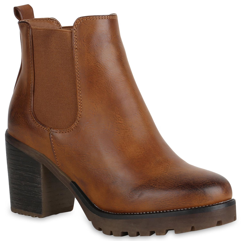 Damen Chelsea Boots Leicht Gef tterte Stiefeletten Plateau 819841 Schuhe