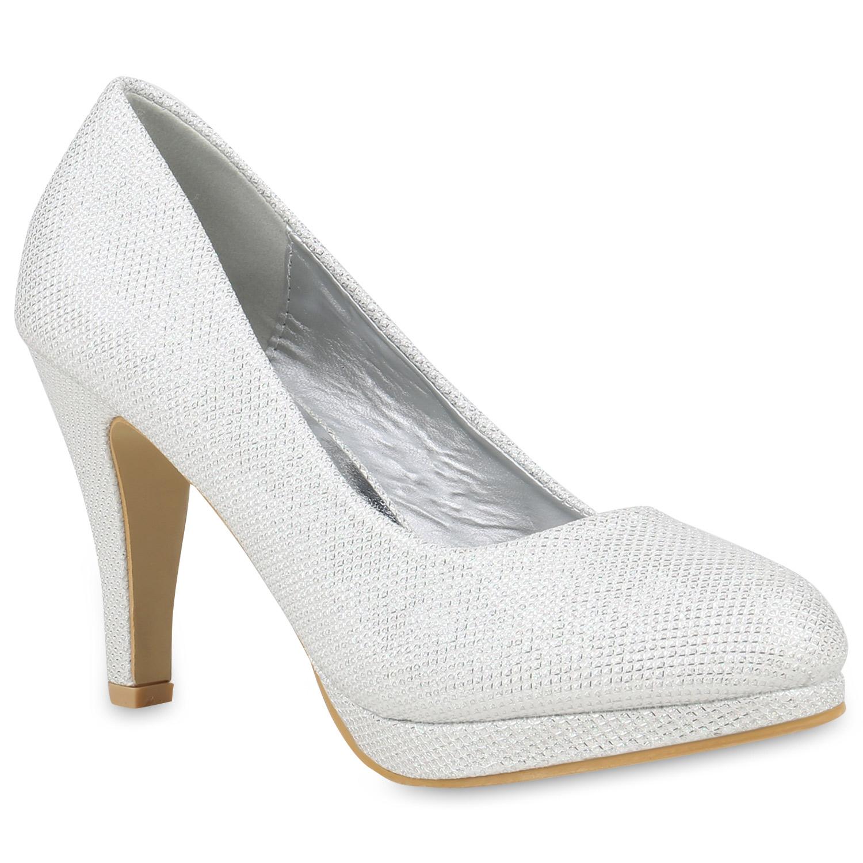 klassische damen pumps stiletto high heels glitzer party. Black Bedroom Furniture Sets. Home Design Ideas