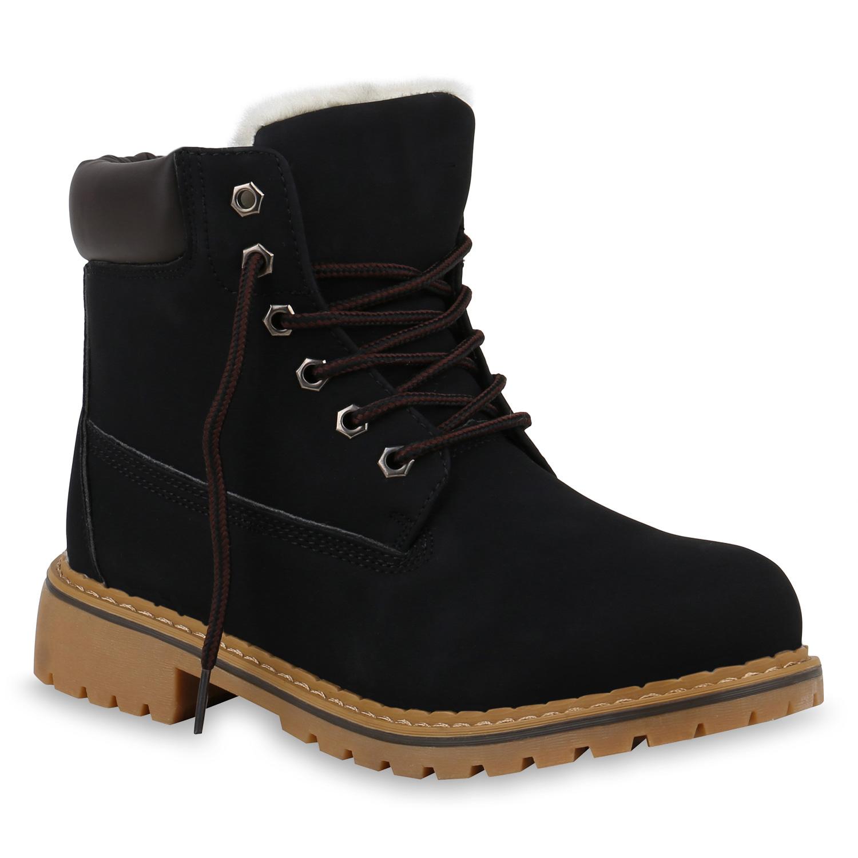 warm gef tterte damen stiefeletten outdoor worker boots. Black Bedroom Furniture Sets. Home Design Ideas