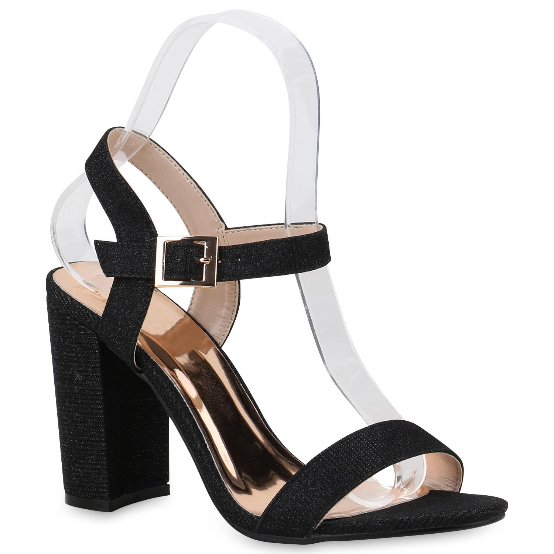 damen sandaletten riemchensandaletten high heels glitzer. Black Bedroom Furniture Sets. Home Design Ideas