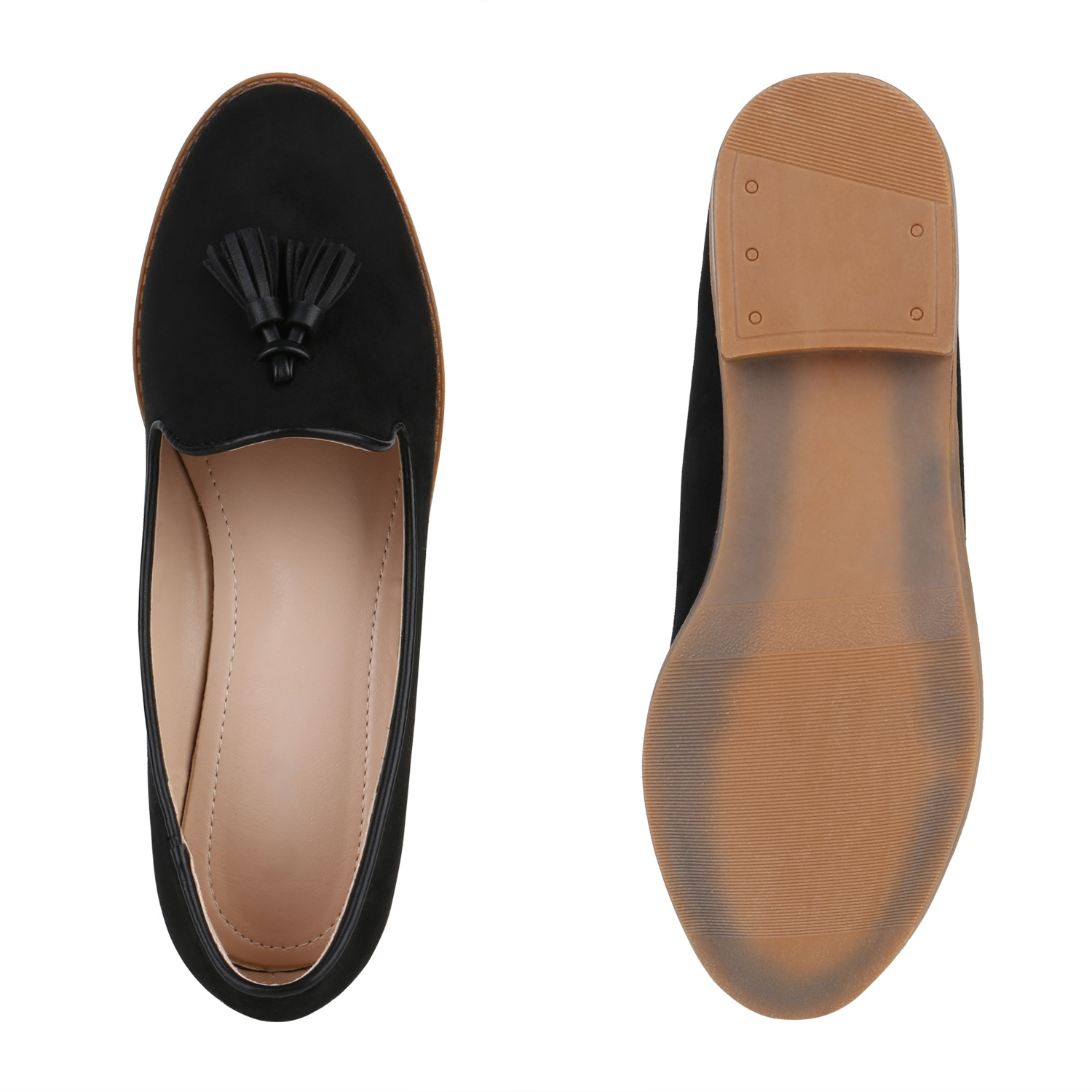 damen slippers tassel loafers quasten elegante slip ons schuhe 820532 schuhe ebay. Black Bedroom Furniture Sets. Home Design Ideas