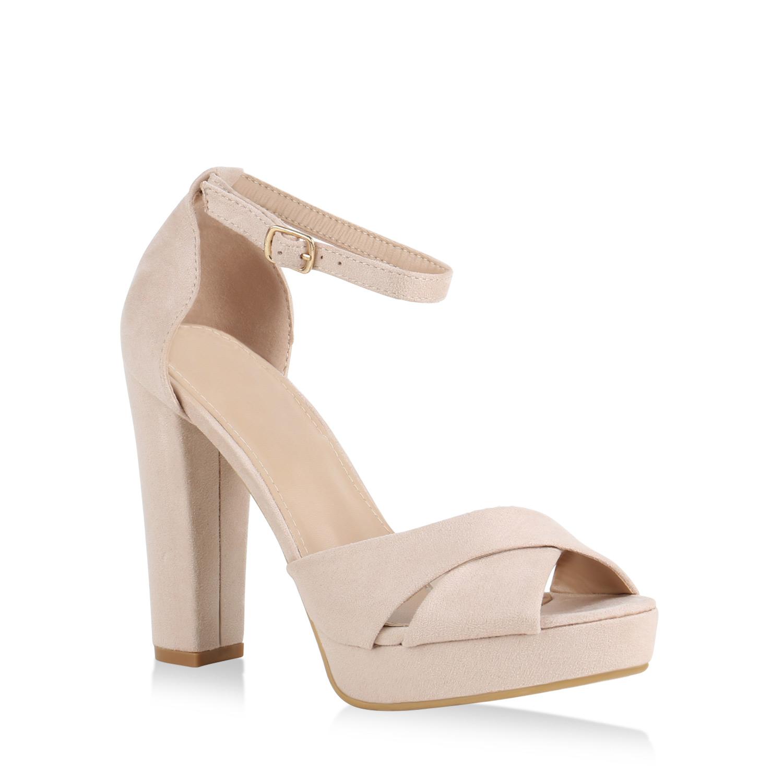 damen plateau sandaletten high heels wildleder optik. Black Bedroom Furniture Sets. Home Design Ideas