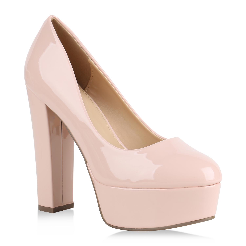 damen plateau pumps lack high heels party plateauschuhe. Black Bedroom Furniture Sets. Home Design Ideas