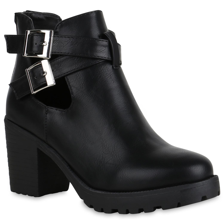 damen plateau boots leder optik stiefeletten cut outs. Black Bedroom Furniture Sets. Home Design Ideas