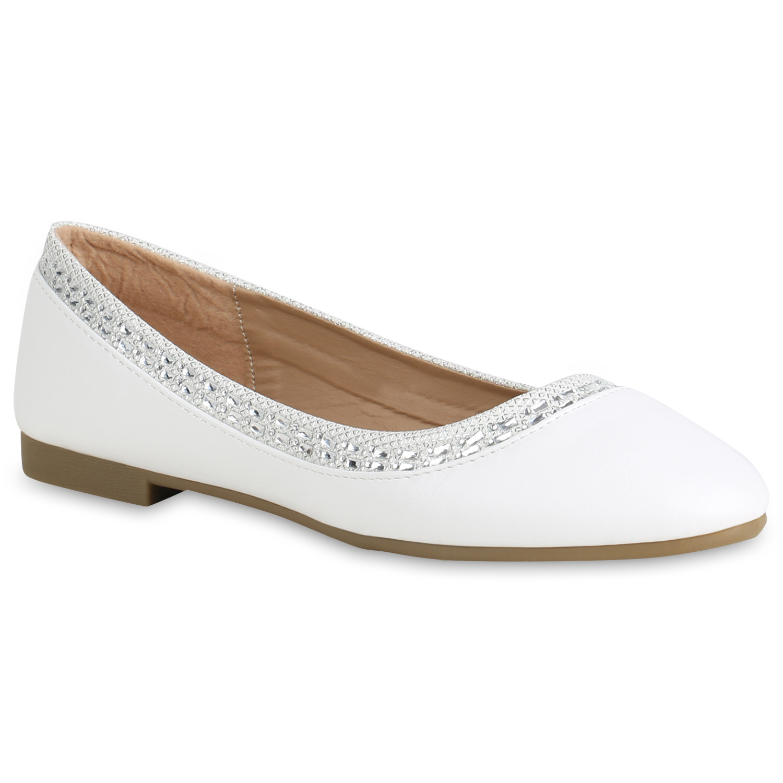 Damen Frauen Klassische Flache Ballerina Pumps Halbschuhe Schuhe Flats Schuhe