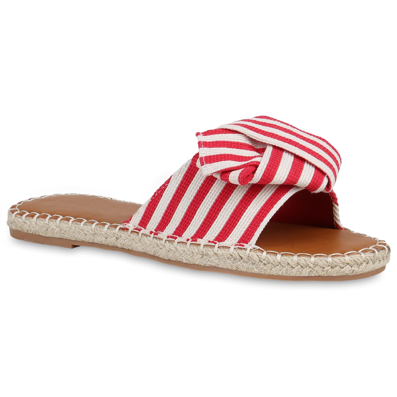 Damen Sandalen Bast Pantoletten Sommer Flats Slides Strandschuhe 821759 Schuhe