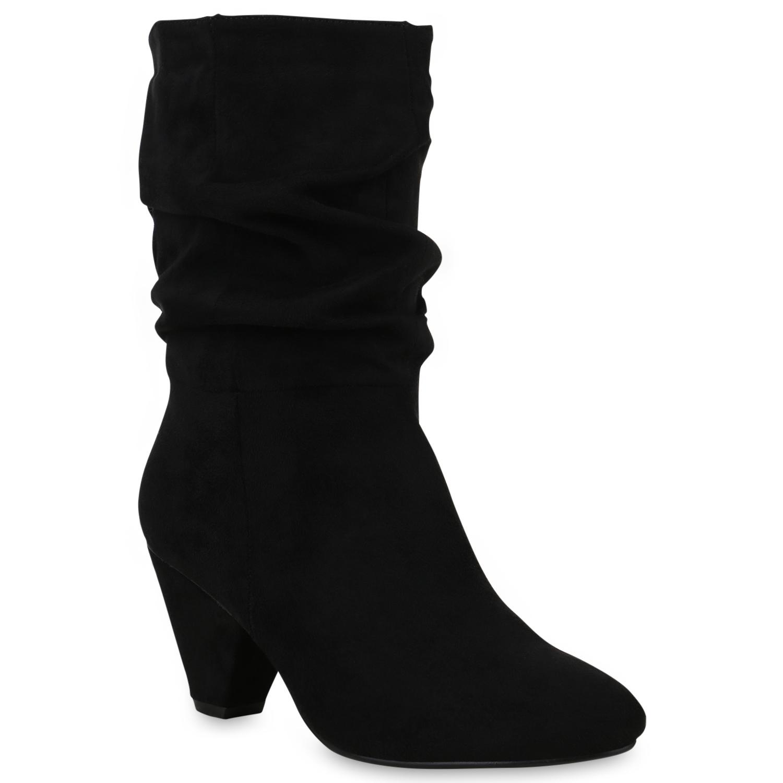 d56028d8a6a1 Klassische Damen Stiefel Leicht Gefütterte Boots Basic 824332 Schuhe ...
