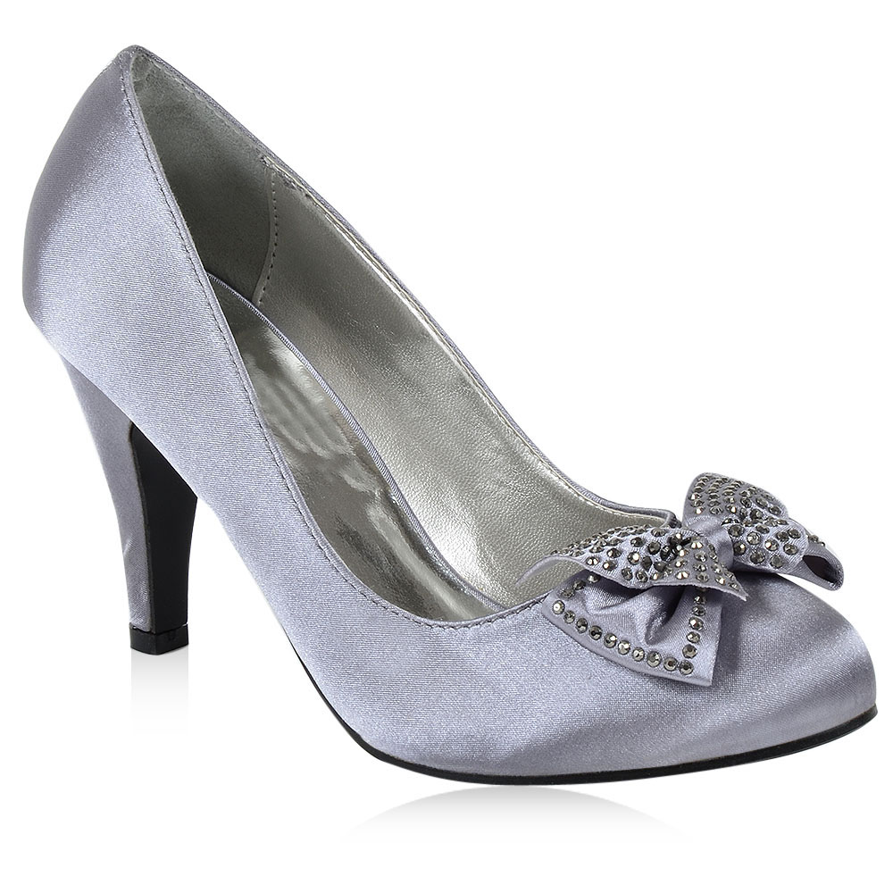 damen brautschuhe high heels pumps satin optik schuhe 890161 gr 36 41 top ebay. Black Bedroom Furniture Sets. Home Design Ideas