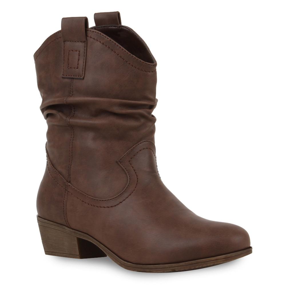 damen cowboy stiefeletten biker boots 99302 schuhe gr 36. Black Bedroom Furniture Sets. Home Design Ideas