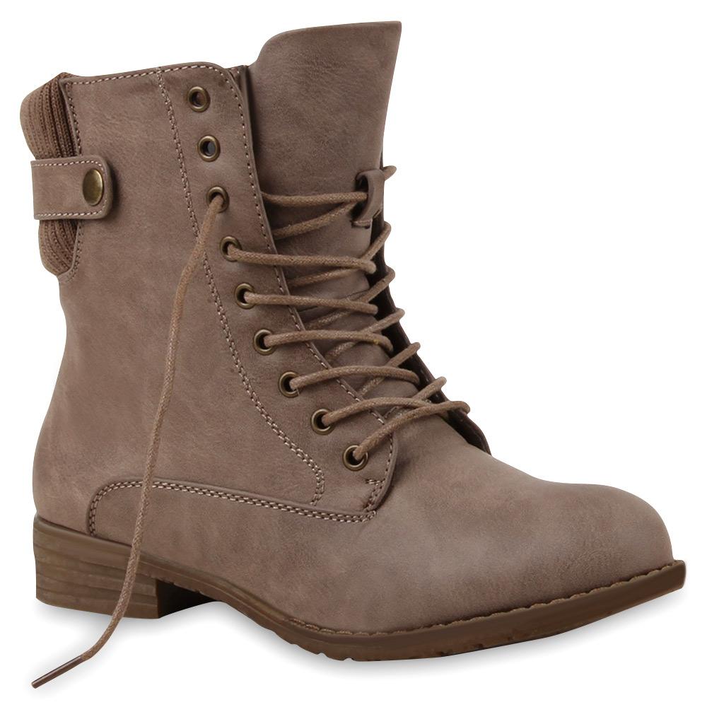gef tterte damen stiefeletten ankle boots herbst winter schuhe 98145 gr 36 41 ebay. Black Bedroom Furniture Sets. Home Design Ideas