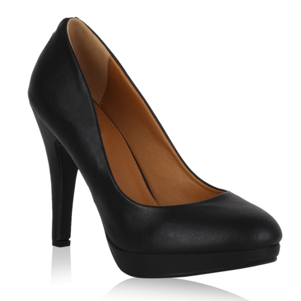 moderne damen plateau pumps high heels stilettos schuhe 99418 ebay. Black Bedroom Furniture Sets. Home Design Ideas