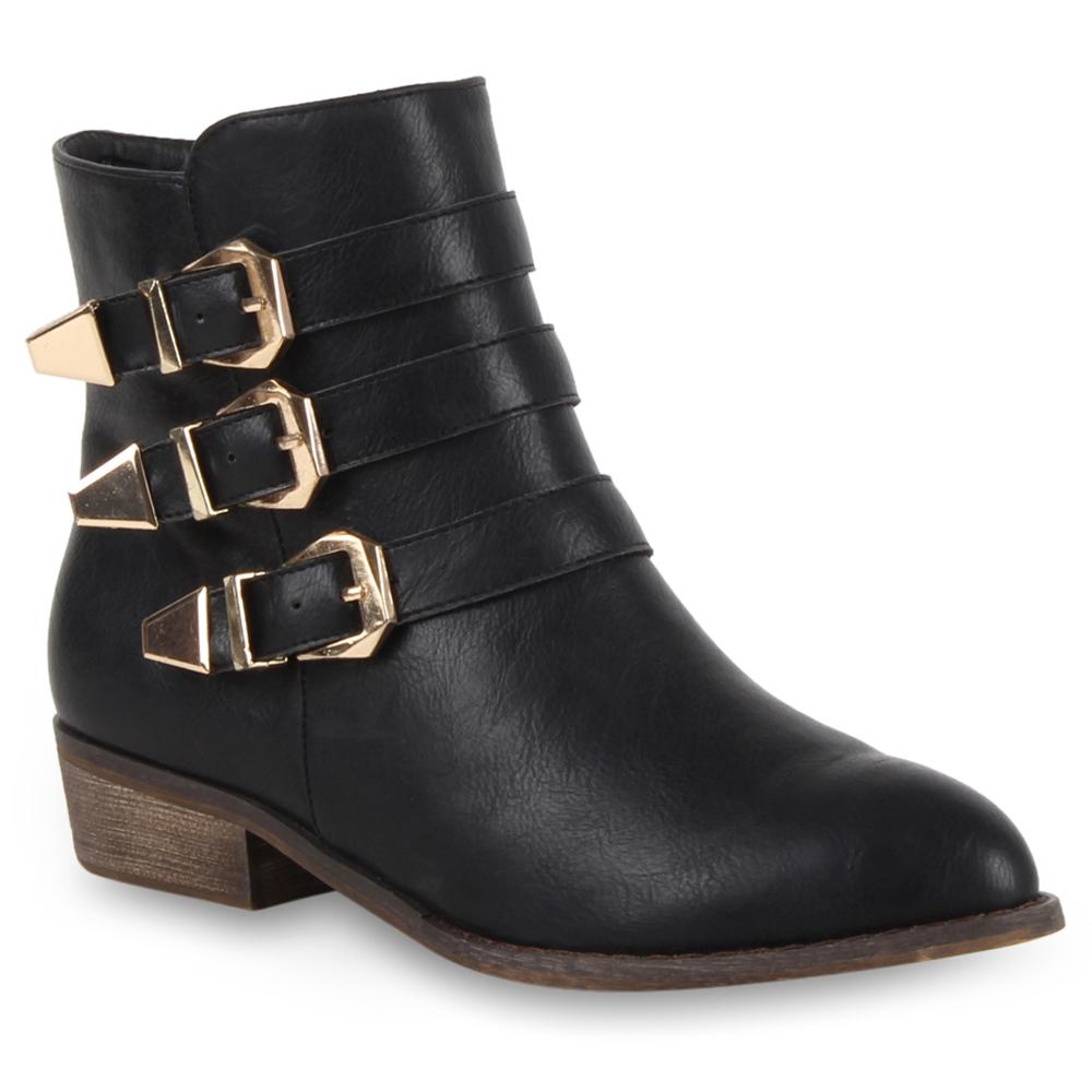 damen cowboy stiefeletten flache ankle boots stiefel schuhe 98567 gr 36 41 ebay. Black Bedroom Furniture Sets. Home Design Ideas