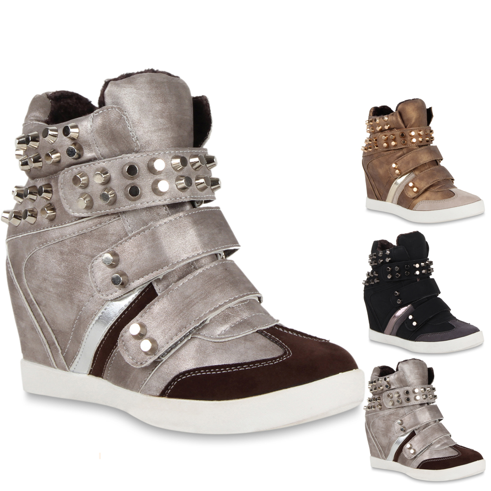 trendy damen sneakers sneaker wedges keilabsatz schuhe. Black Bedroom Furniture Sets. Home Design Ideas
