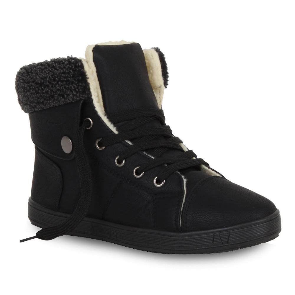 warme damen sneakers winter sportschuhe gef ttert 98980 gr 36 41 trendy ebay. Black Bedroom Furniture Sets. Home Design Ideas