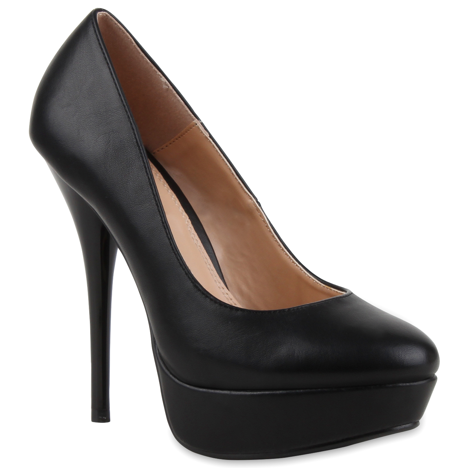 moderne damen plateau pumps high heels schuhe 70014 gr 36 41 ebay. Black Bedroom Furniture Sets. Home Design Ideas