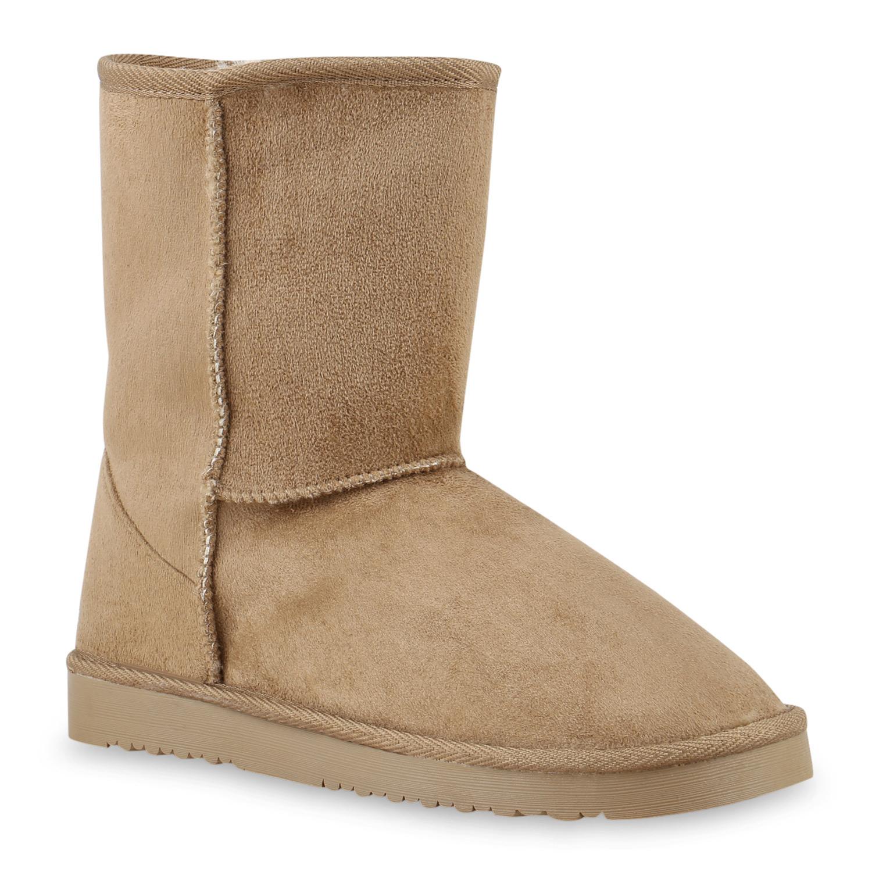 Damen Kinder Warm Gef tterte Boots Schlupfstiefel 99835 Gr. 30 41 New Look