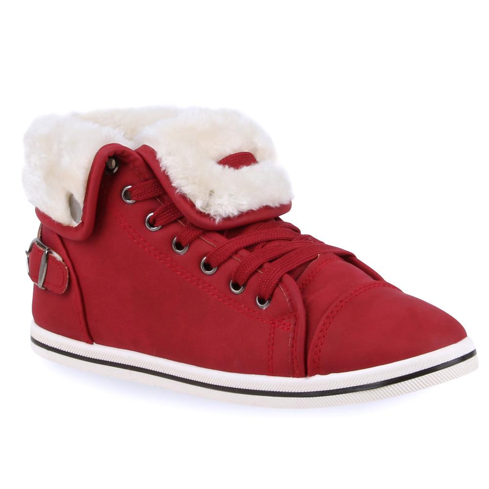 Warme Damen Sneakers Winter Sport zapatos  98722 Schnürer Gefüttert Gefüttert Schnürer 36-41 New Look cf57d4