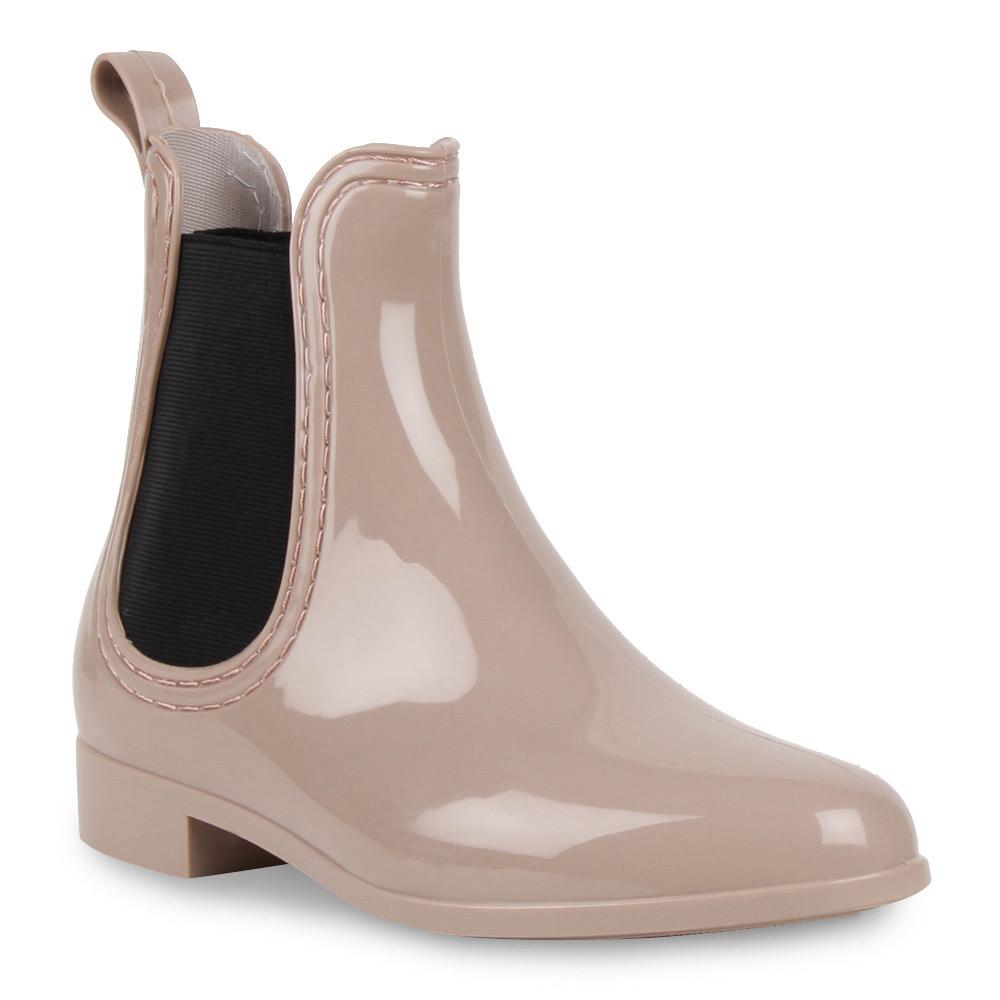 neu damen lack stiefeletten gummistiefel chelsea boots. Black Bedroom Furniture Sets. Home Design Ideas