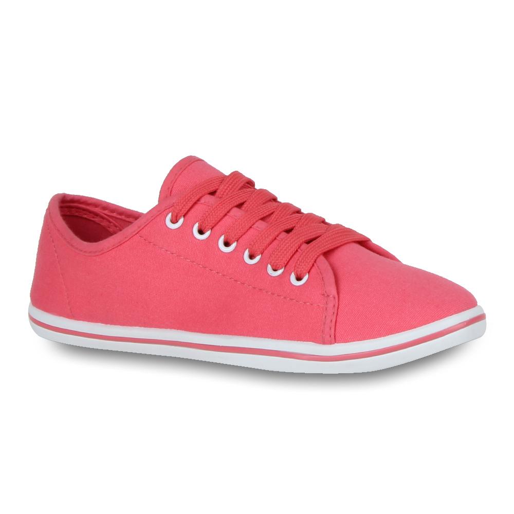 Damen-Sneakers-Sportschuhe-Basic-Stoffschuhe-71140-Gr-36-41-Schuhe