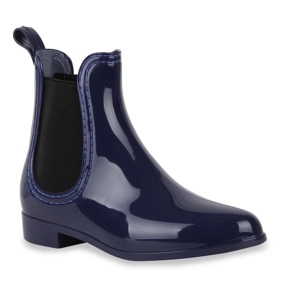 damen lack stiefeletten gummistiefel chelsea boots schuhe 70510 gr 36 41 ebay. Black Bedroom Furniture Sets. Home Design Ideas