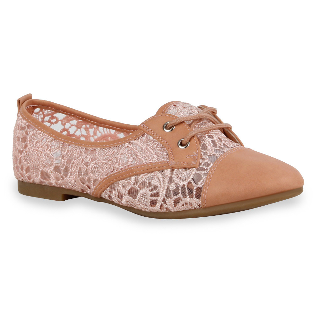 Damen Halb zapatos  Spitze Flats Dandy Schnürer Gr. 71284  zapatos  Gr. Schnürer 36-41 Top 74461a