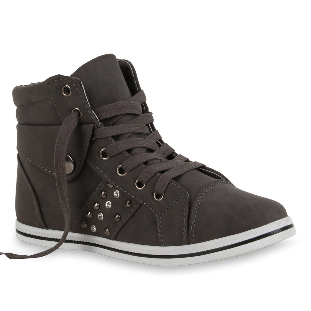 damen sneakers high top sneaker boots sportschuhe 99404. Black Bedroom Furniture Sets. Home Design Ideas