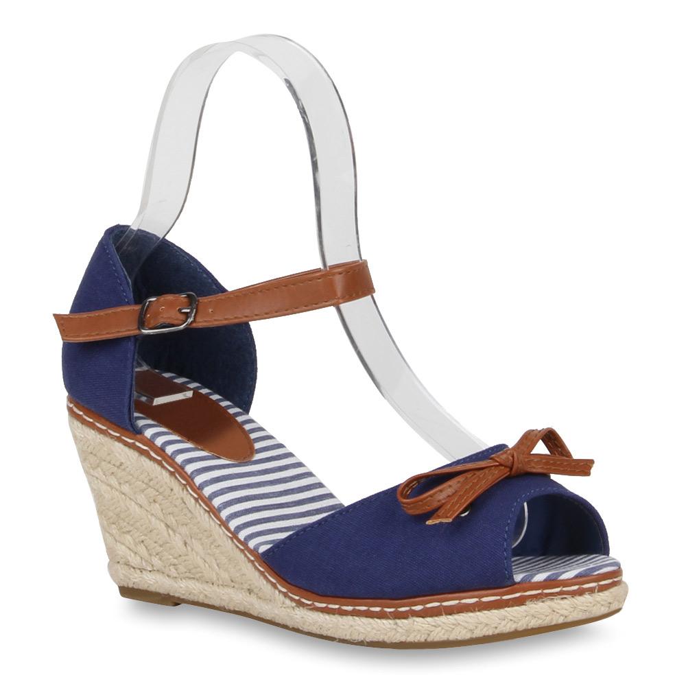 Schuhe mit keilabsatz dunkelblau