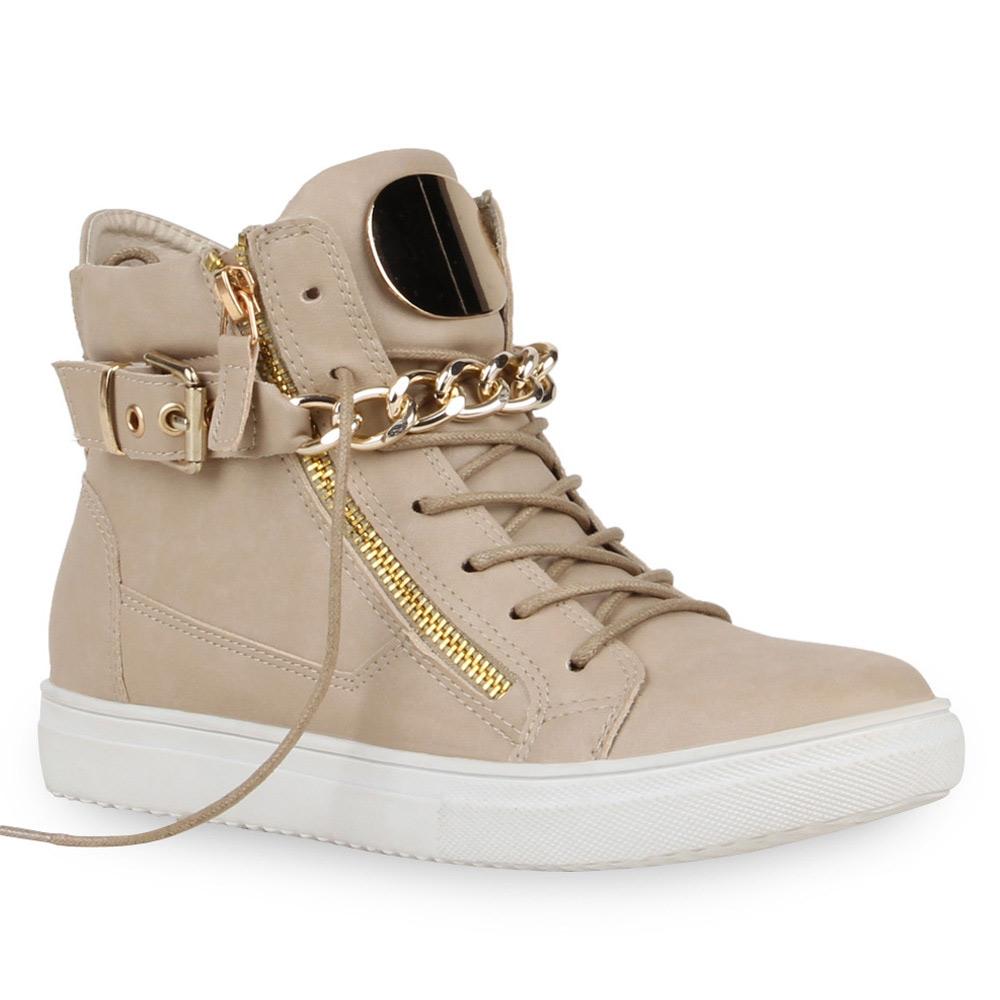 damen metallic sneakers ketten high top sportschuhe 72300 new look ebay. Black Bedroom Furniture Sets. Home Design Ideas