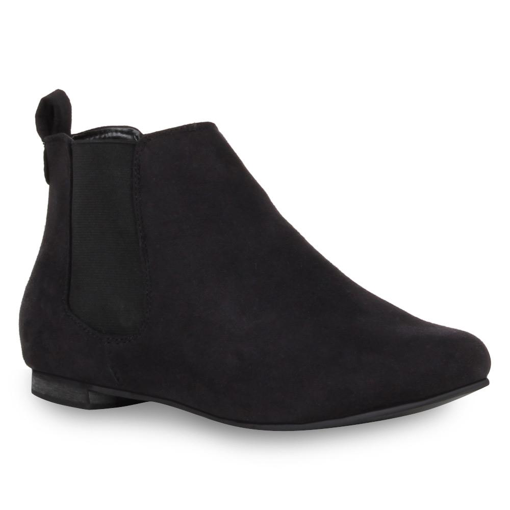 fd0bfe9387be58 Moderne-Damen-Stiefeletten-Flache-Chelsea-Boots-72526 Indexbild 2