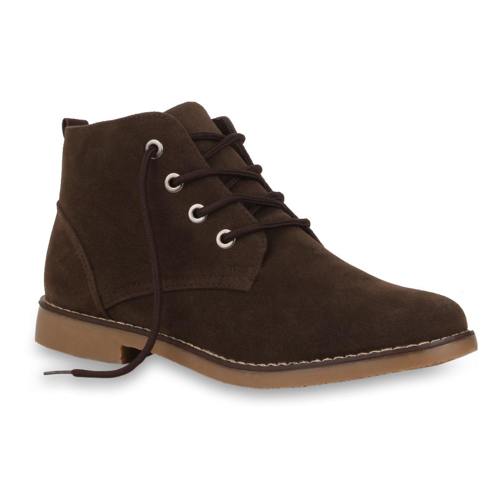 herren outdoor desert boots schn rer lederoptik schuhe 99609 gr 40 46 ebay. Black Bedroom Furniture Sets. Home Design Ideas