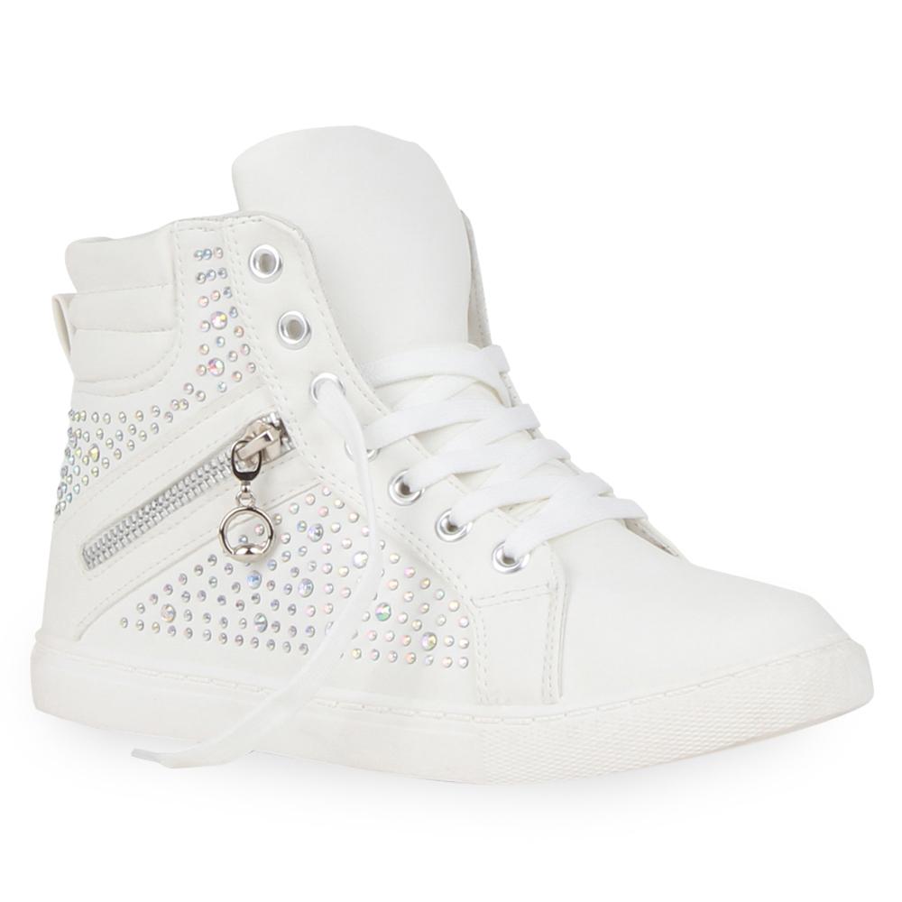 stylische damen high top sneakers ketten zipper 99587 sportschuhe 36 41 schuhe ebay. Black Bedroom Furniture Sets. Home Design Ideas