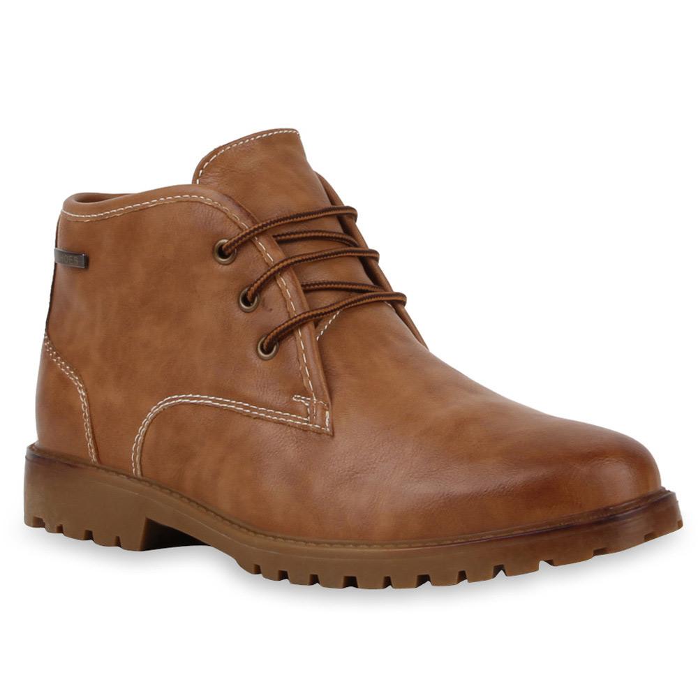moderne herren boots lederoptik schuhe outdoor 99614 gr 39 45 mens special ebay. Black Bedroom Furniture Sets. Home Design Ideas