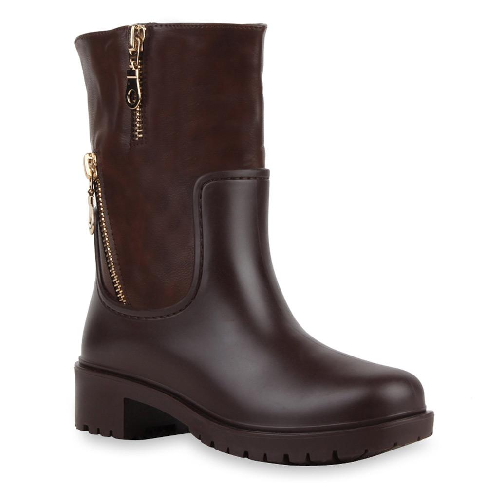 derbe damen stiefeletten boots gummistiefel stiefel 99611 gr 36 41 ebay. Black Bedroom Furniture Sets. Home Design Ideas