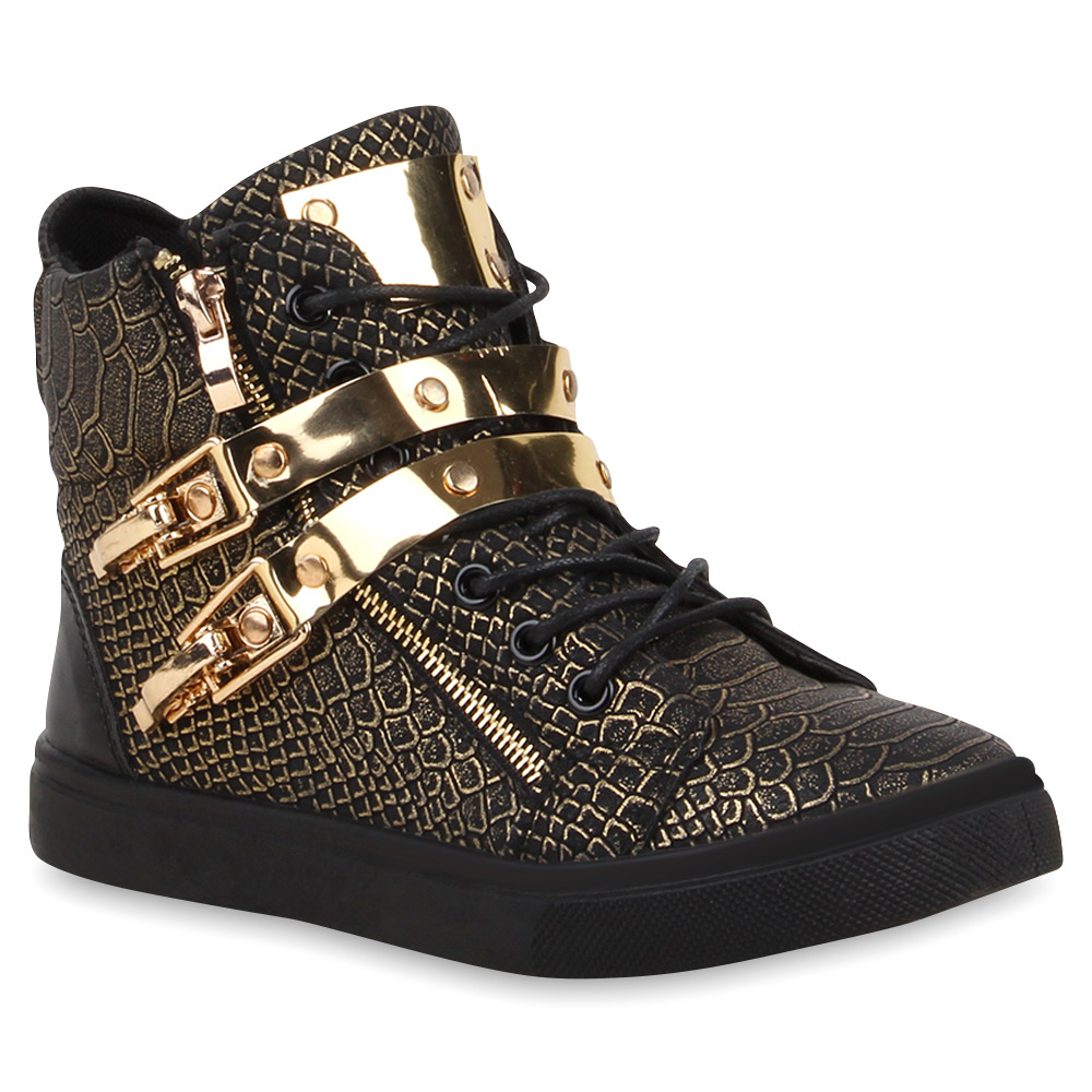 damen high top sneakers metallic sportschuhe zipper 73503. Black Bedroom Furniture Sets. Home Design Ideas