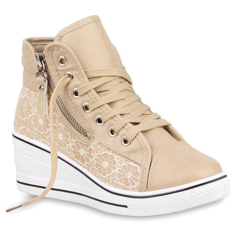 damen sneakers sneaker wedges spitze zipper schuhe 74691 top ebay. Black Bedroom Furniture Sets. Home Design Ideas