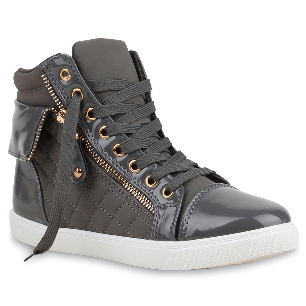 damen sneakers high top sportschuhe zipper stoffschuhe 75453 schuhe ebay. Black Bedroom Furniture Sets. Home Design Ideas