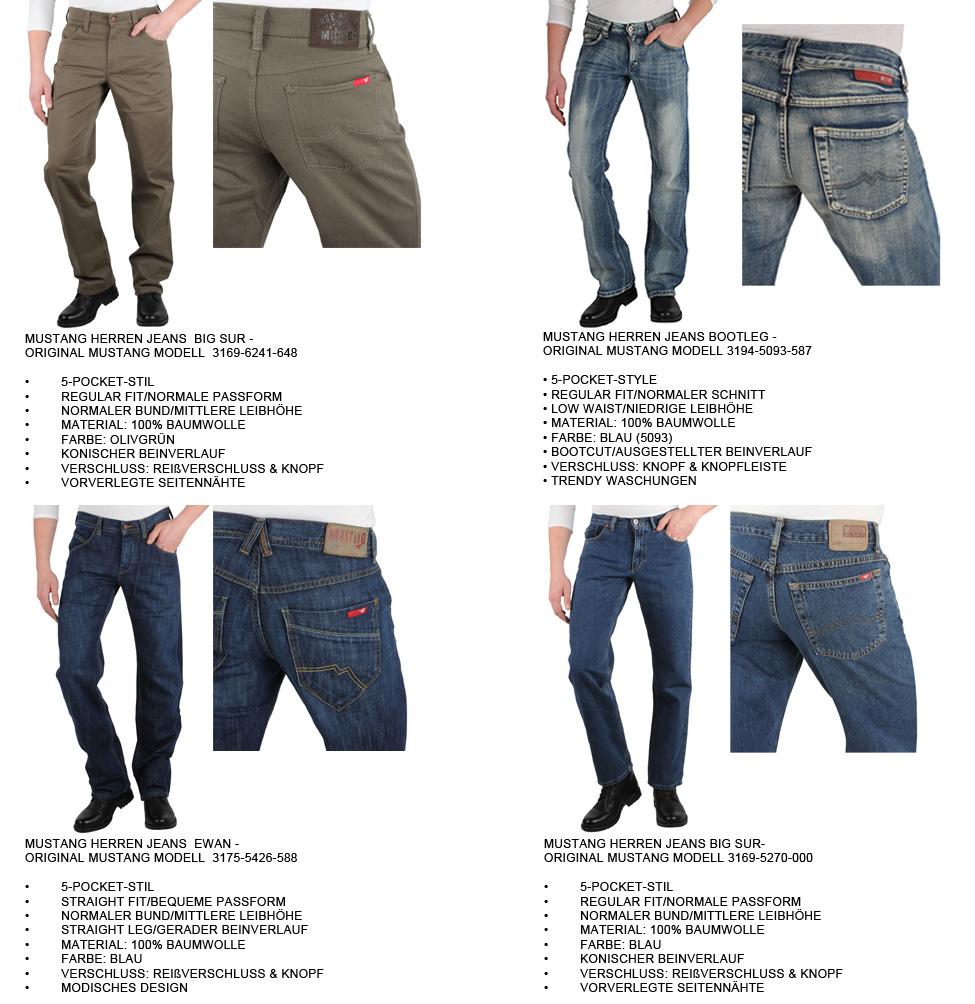 Damen & Herren Original Denim MUSTANG Jeans 891352 Viele Modelle New Look